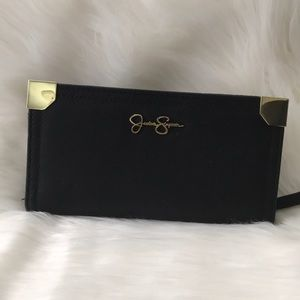 Jessica Simpson Black Wallet Zip and snap clutch